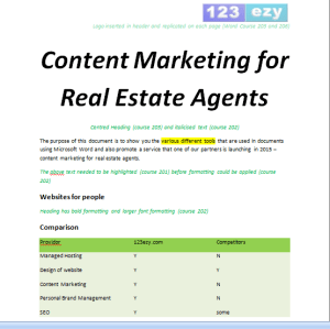 Content Marketing for Real Estate Agents Word 201 Exercise files thumbnail