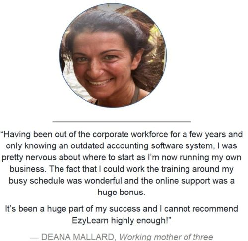 headshot of EzyLearn student return to workforce mother testimonial