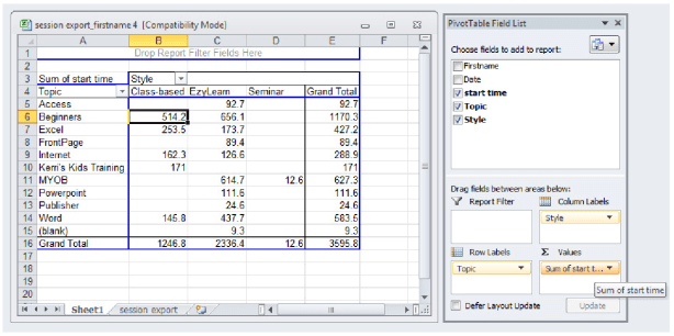 Learn about Excel Pivot tables and pivot table charts