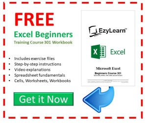 Free Microsoft Excel Beginners Training Course Workbook