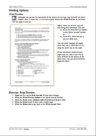 Microsoft Word Training Course Workbook 202