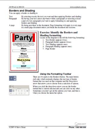 Microsoft Word Training Course Workbook 203
