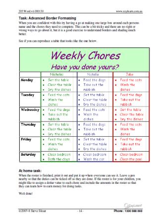 Microsoft Word Training Course Workbook 205