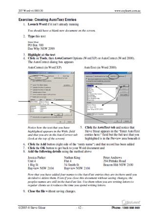 Microsoft Word Training Course Workbook 207