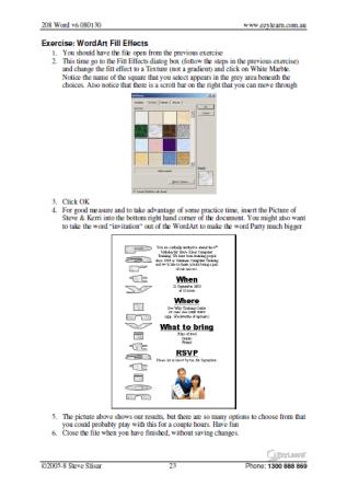 Microsoft Word Training Course Workbook 208