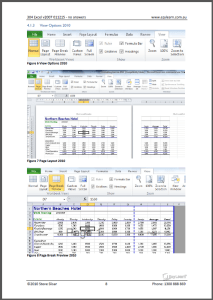 Microsoft Excel Intermediate Course 304 Workbook Screen Shot - page break preview