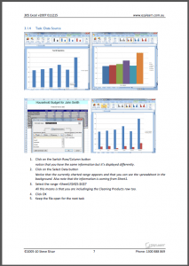 Microsoft Excel Intermediate Course 305 Workbook Screen Shot - graphs and charting