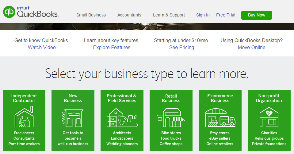 All Types of Business can use Intuit Quickbooks from
