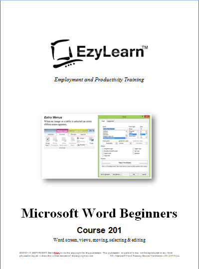 Free Microsoft Word Beginners Training Course 201