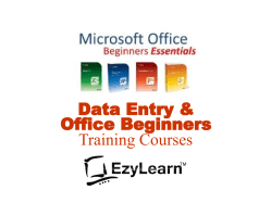 Data Entry and Microsoft Office Beginner Essentials Training Courses - EzyLearn logo