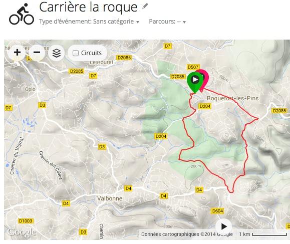 vtt Carrière la roque