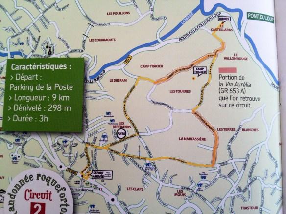 Carte du Circuit Le Castellas