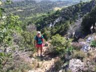 Montagne Sainte Victoire-montée pierreuse