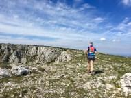 Sur la crête de la montagne Sainte Victoire