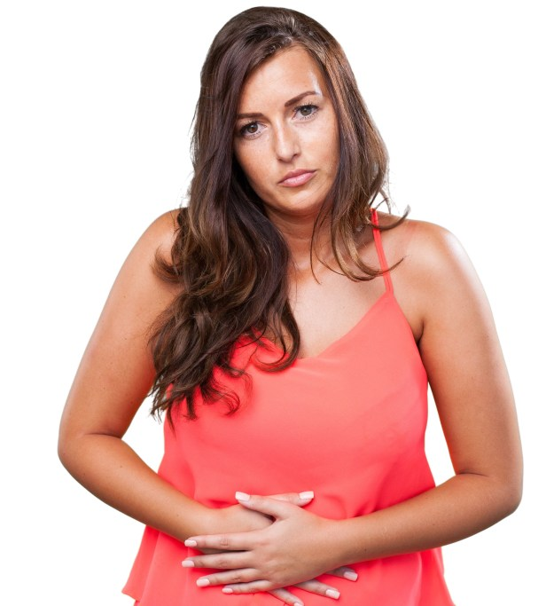 Woman having a stomach ache