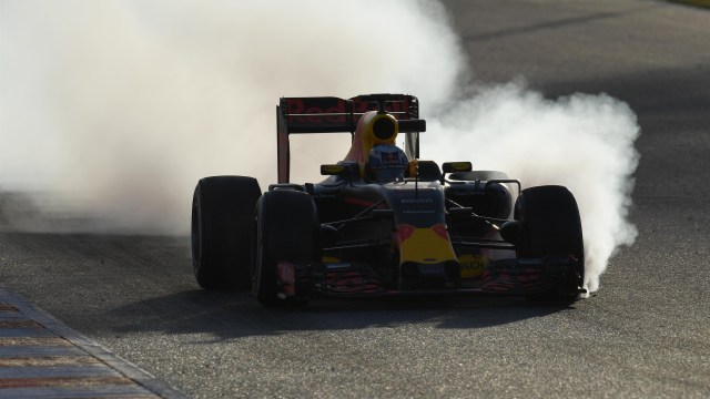 Red Bull Racing RB12l at Formula One Testing, Barcelona, Spain, 2016.