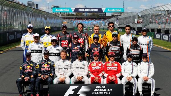 F1 drivers group photo at Formula One World Championship, Rd1, Australian Grand Prix, Race, Albert Park, Melbourne, Australia, Sunday 20 March 2016.