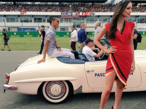 Grid girl at Formula One World Championship, Rd12, German Grand Prix, Race, Hockenheim, Germany, Sunday 31 July 2016.