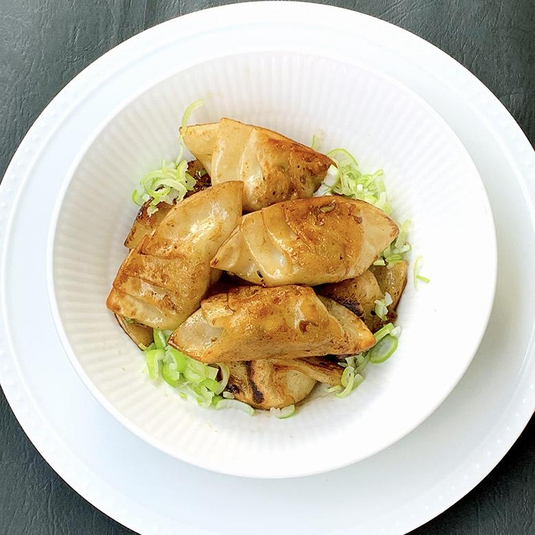 木綿豆腐の焼き餃子