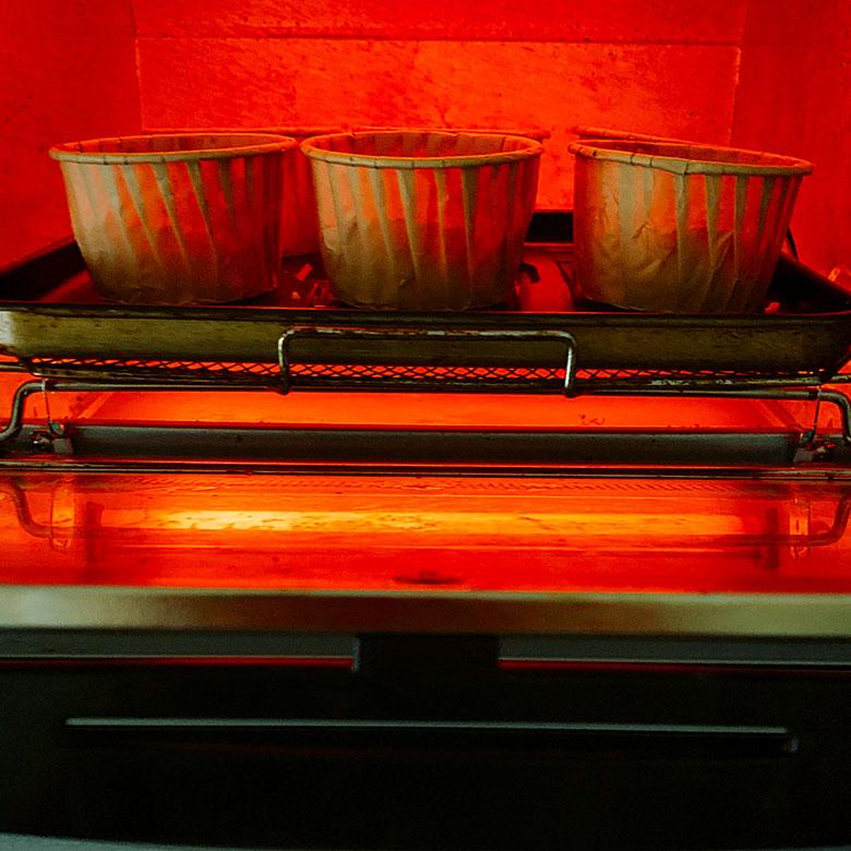 オーブントースターで3分30秒焼く
