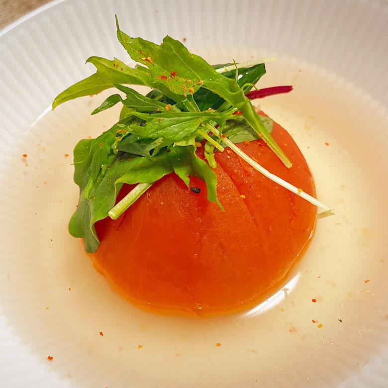 トマトの丸ごとスープ