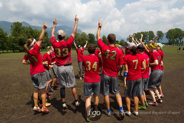 USA Drag'N Thrust v Germany Heidees Mixed im Mixed Division at WFDF 2014 World Ultimate Club Championships in Lecco, Italy