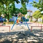 【深川一丁目児童遊園】地元では三角公園と呼ばれる春には桜が綺麗な深川1丁目の公園