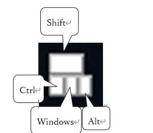 固定キー画面状態表示