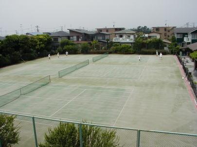 八部テニス人工芝