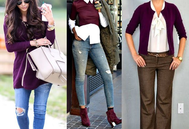 Colors That Go With Plum Clothes Outfit Ideas Fashion