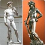 ダビデ像2種類