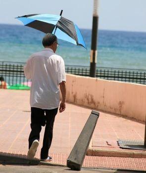 オッチャンと日傘