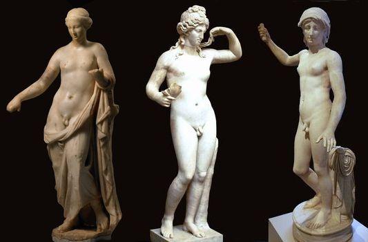 中性的な彫刻