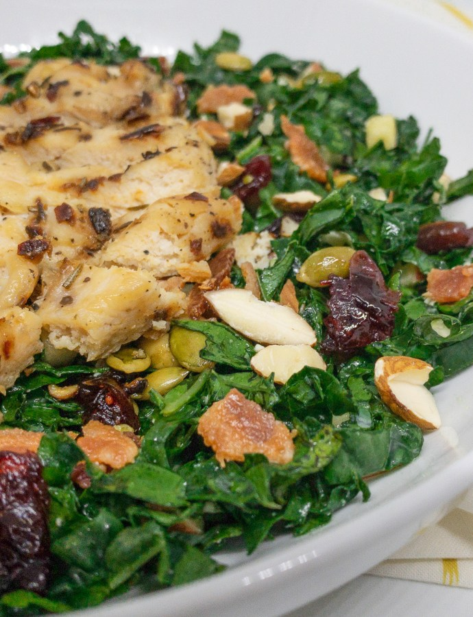 Chopped Kale and Chicken Salad