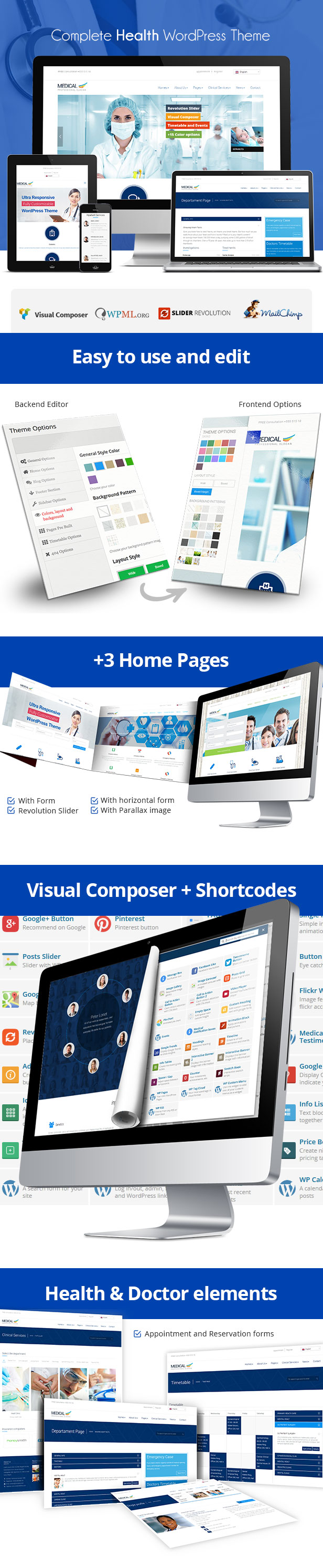 Medical Responsive WordPress Theme presentation