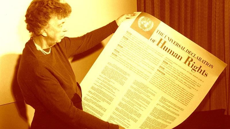 Resultado de imagen de eleanor roosevelt derechos humanos
