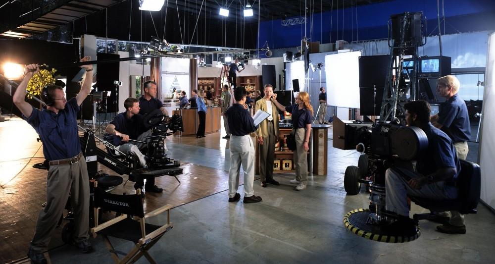 Adult acting, film set