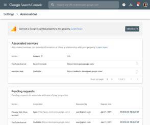 Search Console : pourquoi et comment connecter Google Analytics, Google Ads, YouTube…
