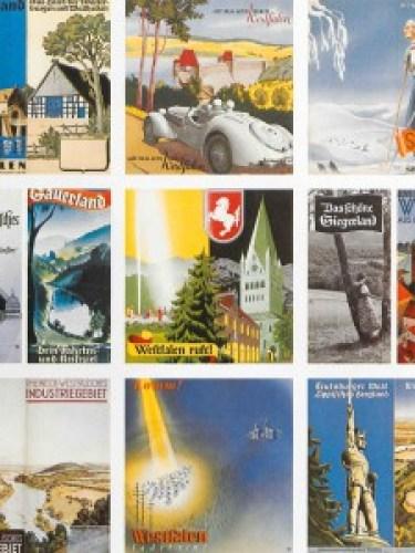 """Collage mit Werbemotiven für den Geschäftsbericht 1981 """"75 Jahre Landesverkehrsverband Westfalen 1907-1982"""" (LWL-Archivamt für Westfalen, Archiv LWL, Best. 807/316) Quelle: archivamtblog"""