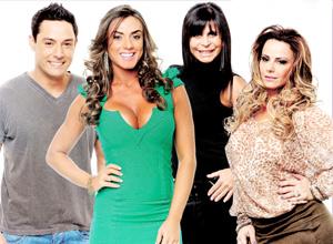 """Vavá, Nicole Bahls, Gretchen e Viviane Araújo vivem brigando na atual edição do reality show """"A Fazenda"""""""