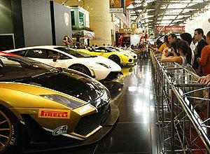 Estande da Lamborghini, na edição 2010 do Salão de São Paulo