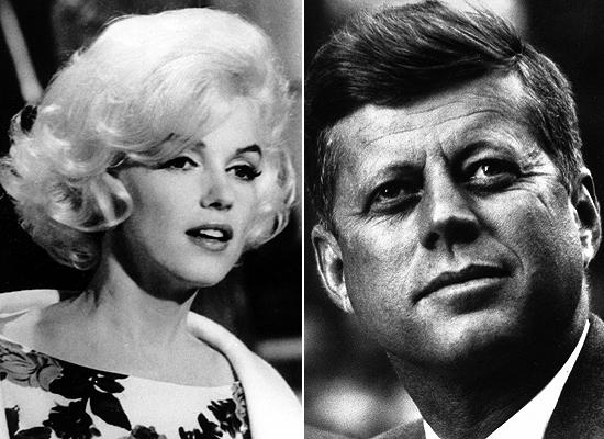 A atriz Marilyn Monroe e o presidente John Kennedy