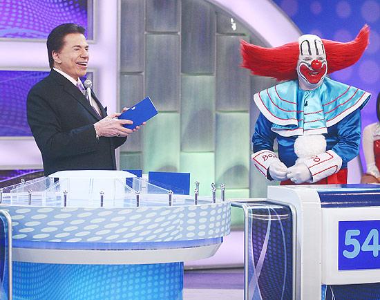 Silvio Santos e Bozo gravam programa juntos