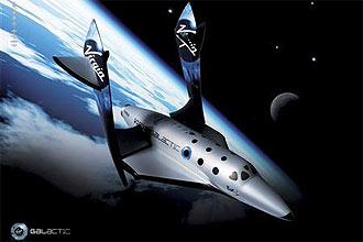 Virgin Galactic está construindo sua primeira aeronava, a SpaceShipTwo, que transportará turistas em breve