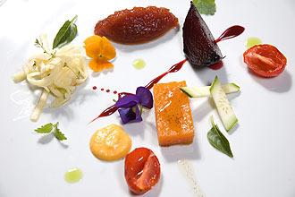 Ingredientes de receitas sofisticadas com legumes e vegetais criadas por chefs do Marcel, do Man� e do Chef Rouge