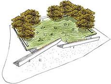 Desenho da praça dos Ipês Amarelos, que deverá ter 8.500 m2, segundo a prefeitura