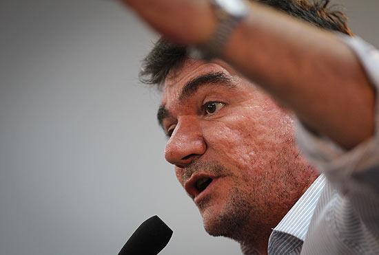 O presidente do Corinthians, Andrés Sanchez; dirigente deixará o cargo depois de 15 de dezembro