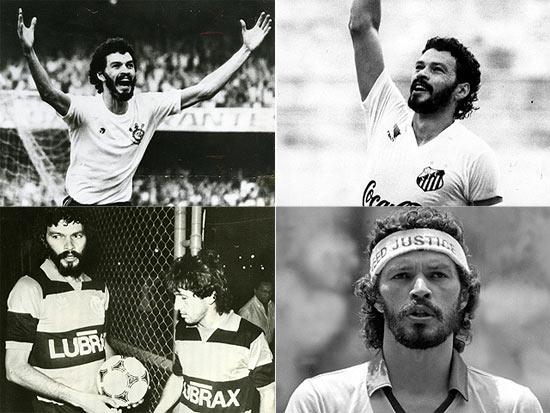 Sócrates no Corinthians, Santos, Flamengo e seleção; clique na foto e veja galeria