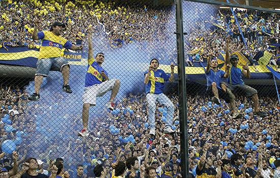 Torcida do Boca Juniors festeja título no estádio La Bombonera