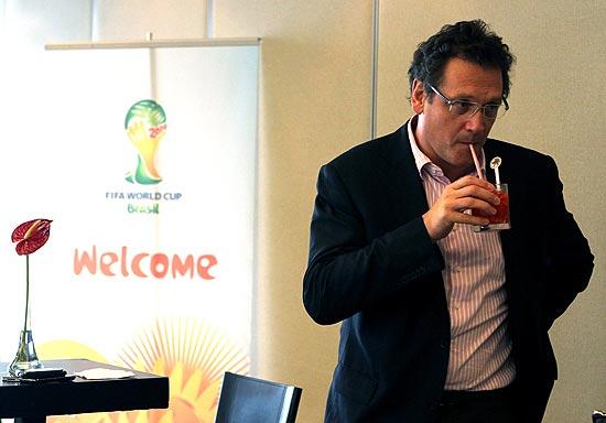 O secretário-geral da Fifa, Jérôme Valcke, em evento da Copa-2014 no Rio, em janeiro